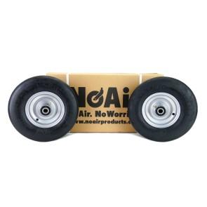 Part #05038 - Hustler Flat Free Tire Assemblies 13x5.00-6 Silver