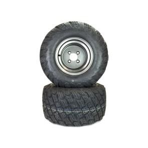 """Part# 72210K3012 Reaper K3012 Heavy Duty Turf Tire Assemblies 22x11.00-10 Gravely Ariens HD ZX Apex Zenith 52"""" - 60"""" Dark Gray"""
