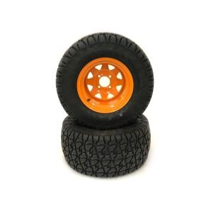 Part #81850ARM - Scag Heavy Duty Pneumatic Rear Tire Assemblies 24x12.00-12 Orange