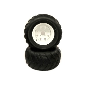Part #KVB98972 - Toro Exmark Heavy Duty V-Bar Pneumatic Rear Tire Assembly 24x12.00-12 White