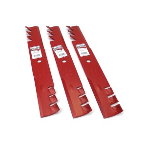 "(3) Reaper 52"" HD Toothed Mulching Blades for Scag Gravely Toro Made in USA"